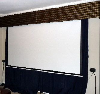 Projector, Screen U0026 Cornice   Mount A Projector To The Ceiling And Hide A Retractable  Projector Screen Behind Decorative Cornice.